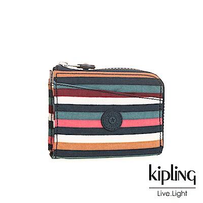 Kipling繽紛仲夏條紋短夾-AWATIK
