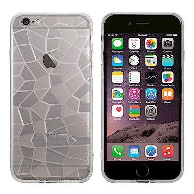 Metal-Slim Apple iPhone 6 Plus 3D鑽石透明TPU保護殼