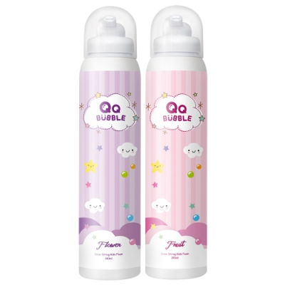 QQ Bubble 神奇好玩魔法沐浴泡泡慕斯~(超值2入)果香泡泡粉+花香泡泡紫