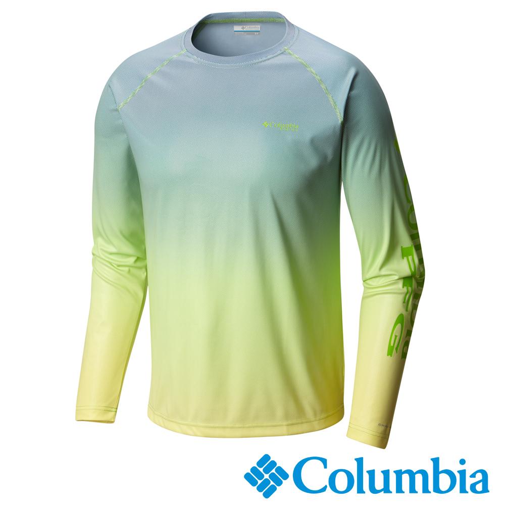 Columbia哥倫比亞 男款-PFG防曬50快排長袖上衣-綠UFE02190AP