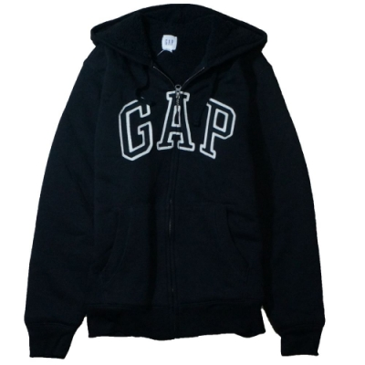GAP 男生 連帽厚外套 黑 1440