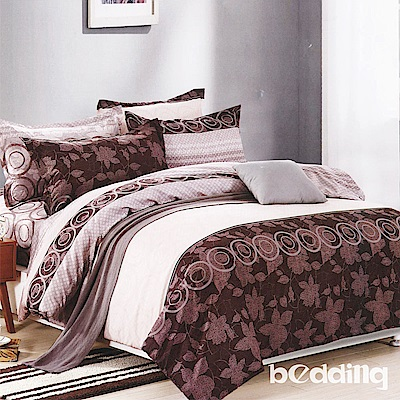 BEDDING-活性印染5尺雙人薄式床包涼被組-華麗風尚