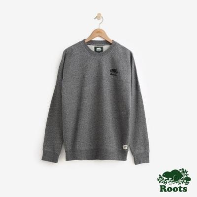 男裝Roots 原創毛圈布圓領上衣-灰色