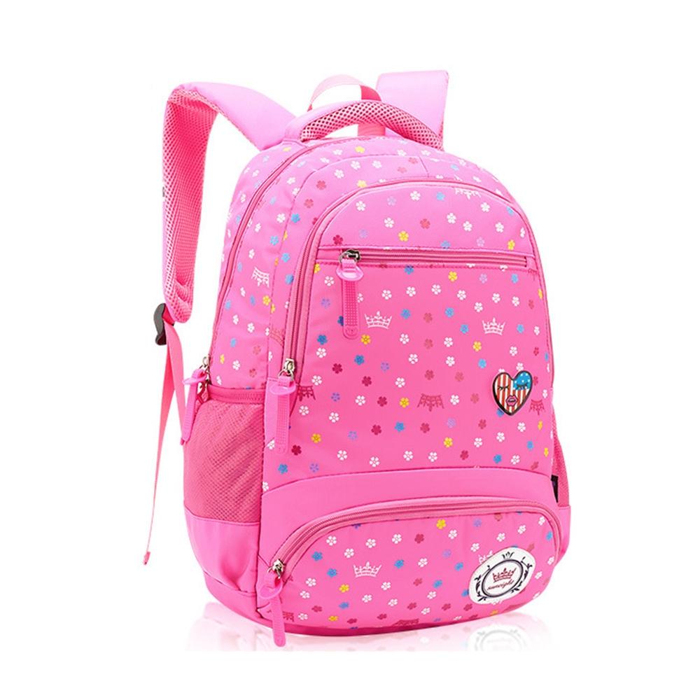 DF 童趣館 - 甜心氣質寶貝女孩專屬書包後背包-粉紅