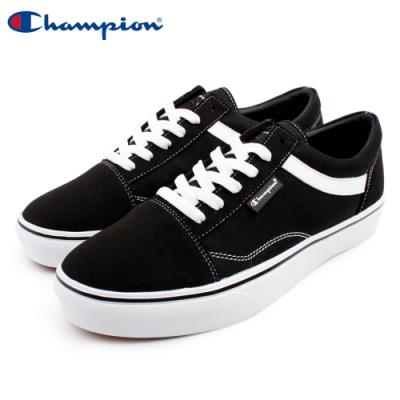 【Champion】U-C Plain 休閒帆布鞋 男鞋-黑(MFLS-9016-10)