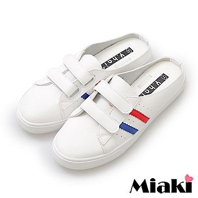 Miaki- 穆勒鞋.小資女必備休閒平底包鞋-藍