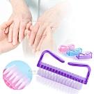 kiret 指甲清潔專用刷 羊角刷牛角刷-贈磨砂指甲搓刀