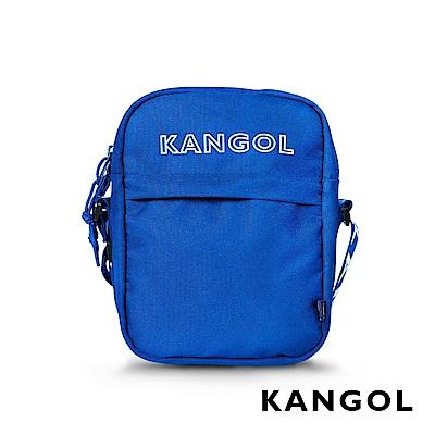 KANGOL LIBERTY系列 韓版潮流LOGO背帶小型側背包-藍色 KG1194