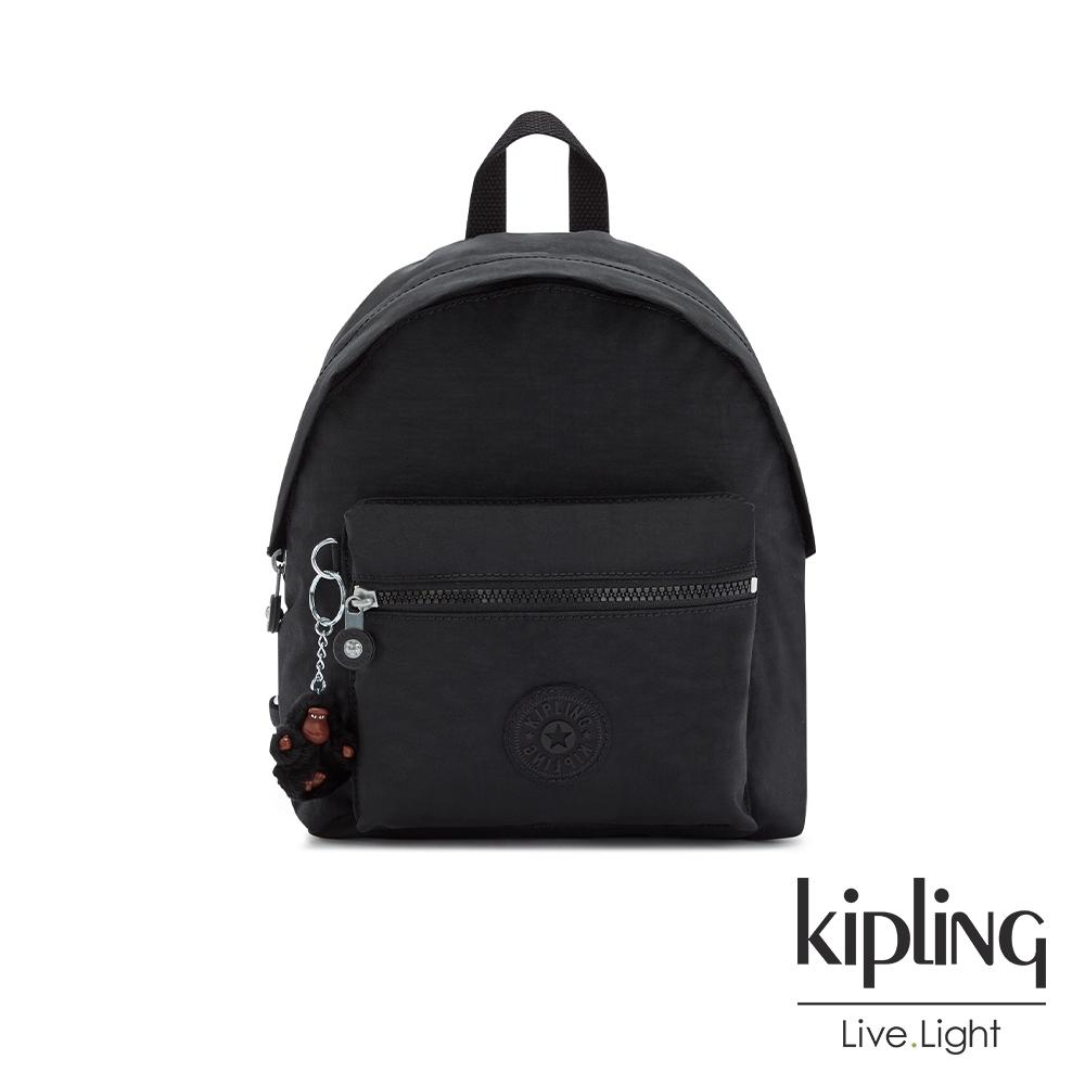 Kipling 質感黑造型簡約後背包-REPOSA