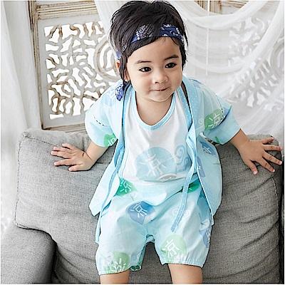 baby童衣 露背連身衣 透氣涼感短袖寶寶套裝 90016
