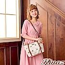 KINAZ 甜蜜相遇兩用斜背托特包-自信粉紅-幸福篇章系列