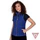 GUESS-女裝-時尚菱格紋修身背心-藍 原價3990 product thumbnail 1