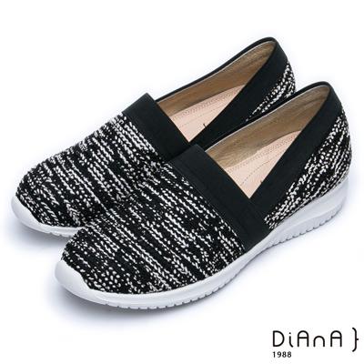 DIANA 輕。愛的--輕量雙色漸層休閒鞋-黑x白