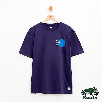 男裝Roots 左胸短袖T恤-藍