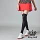 【KING GOLF】彈性修身A LINE素面短裙-紅色 product thumbnail 1