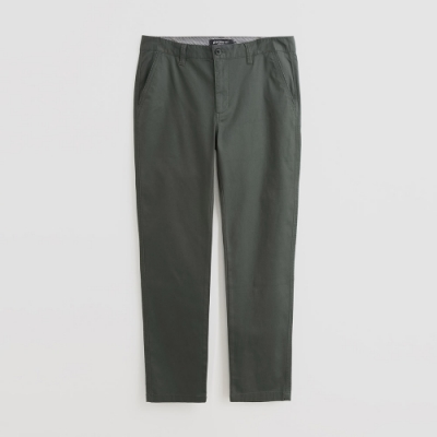 Hang Ten - 男裝 - 簡約修身純色休閒長褲 - 綠