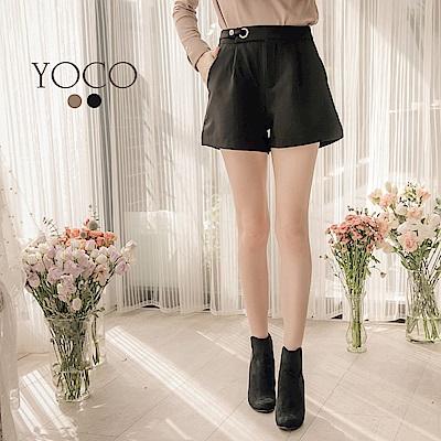 東京著衣-yoco時髦名媛腿長效果口袋修身短褲-S.M.L共二色