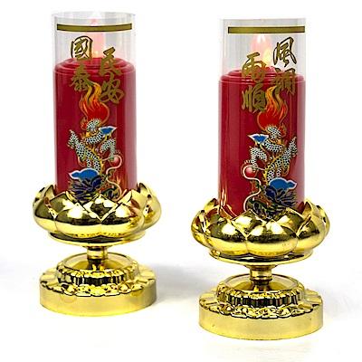 AYAPU 悅亞普插電式環保安全電子蠟燭 -VX-CL938AC-紅