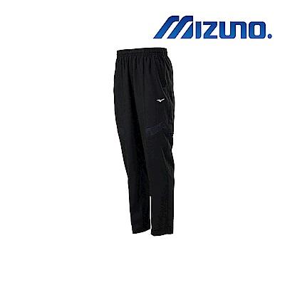 MIZUNO 美津濃 男平織運動長褲 黑x黑紋 32TD908799