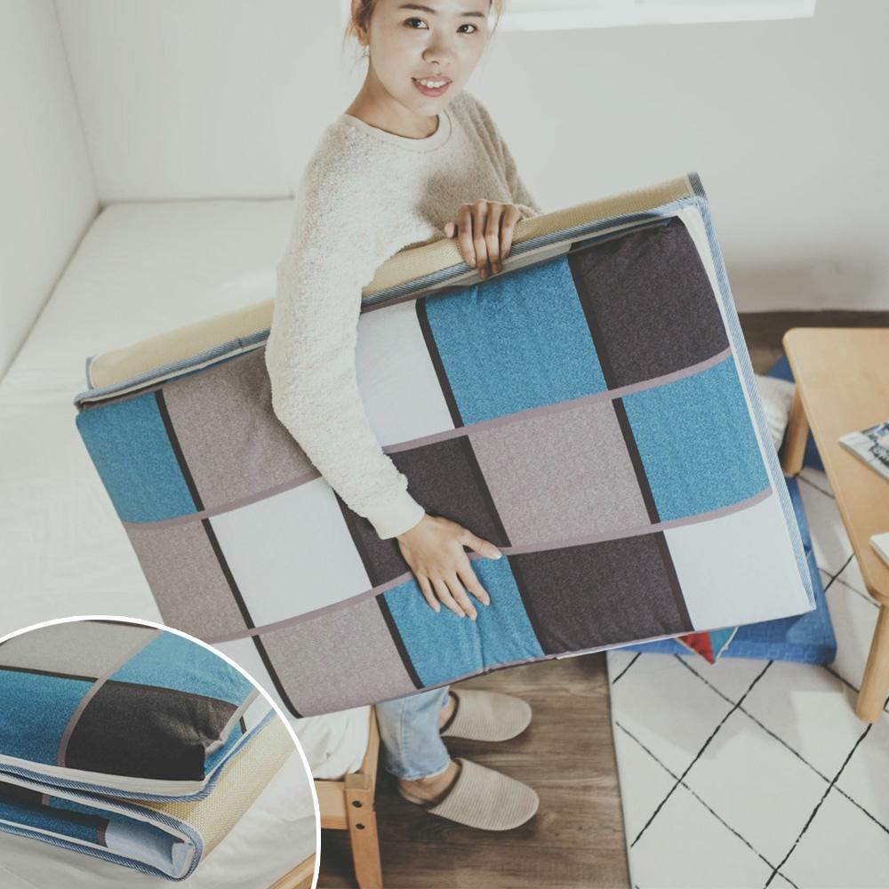MIT學生床墊/仿藤面摺疊床墊(單人3尺)
