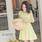 東京著衣-yoco 法國好女孩細褶條紋洋裝-XS.S.M(共三色)