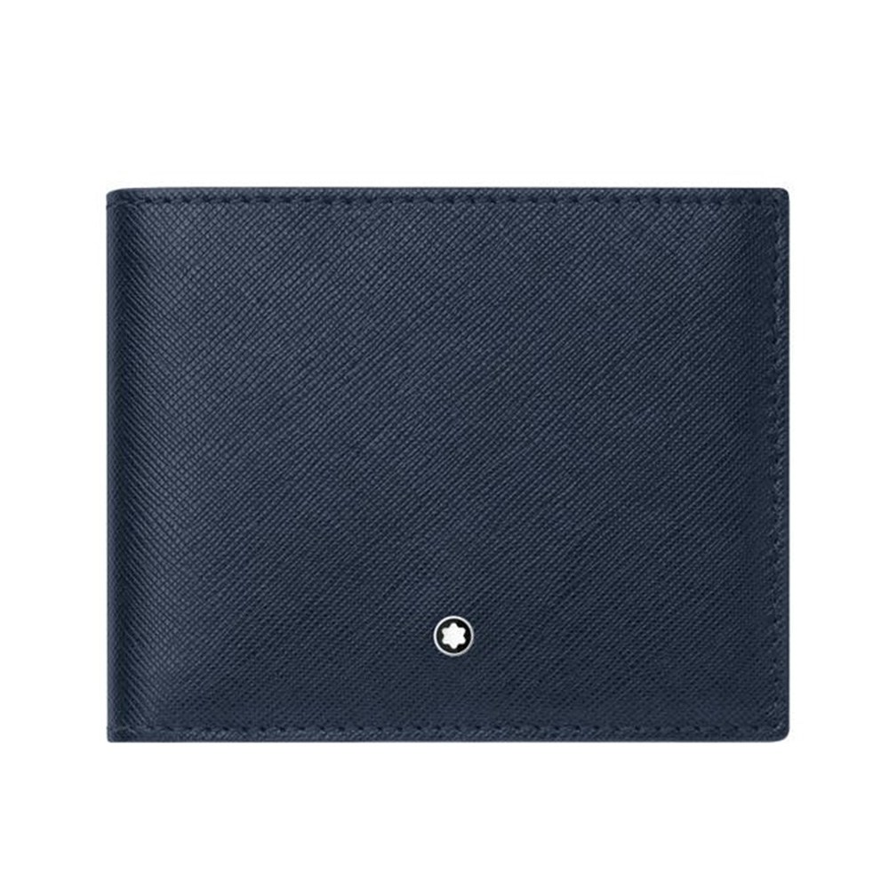 MONTBLANC 萬寶龍 匠心系列 藍色 6卡式皮夾 128585