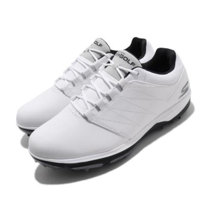 Skechers 高爾夫球鞋 Go Golf Pro 4 男鞋 緩衝 耐磨 高抓地力 皮革鞋面 輕量 白 黑 54535WBK