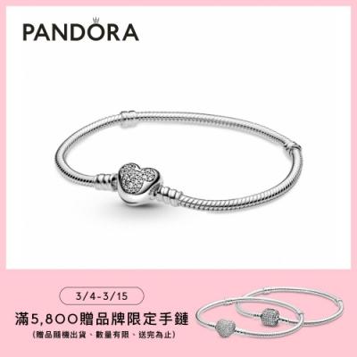 【Pandora官方直營】 Pandora Moments 迪士尼米奇心形扣蛇鏈