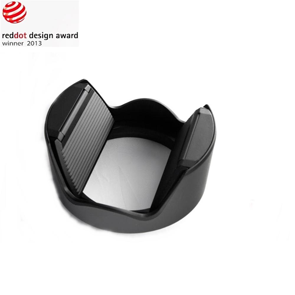 台灣HOOCAP二合一鏡頭蓋兼遮光罩M6652D,相容Canon原廠遮光罩EW-54