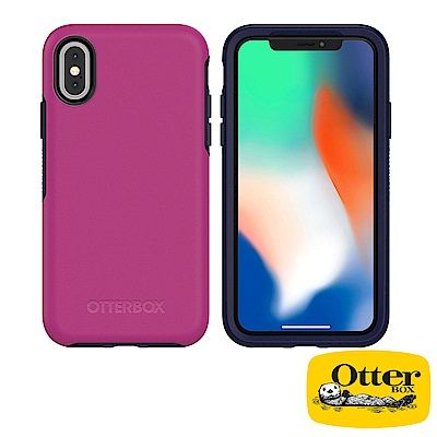 OtterBox iPhoneX炫彩幾何系列保護殼-黑醋栗