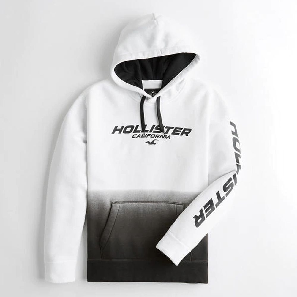 Hollister HCO 男 長袖連帽T 白色 1488