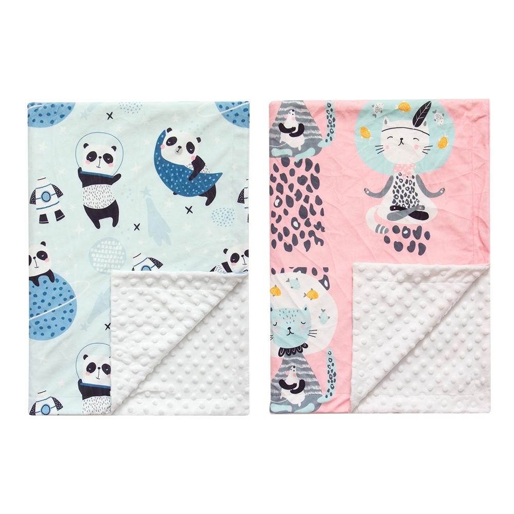 colorland嬰兒包巾 蓋毯 貓咪印花泡泡毯