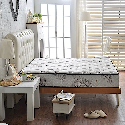 A家-女性專用-超涼感乳膠抗菌-護邊蜂巢獨立筒床墊-雙人5尺-護腰麵包床