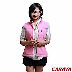 CARAVA《女款刷毛背心》(粉紅)
