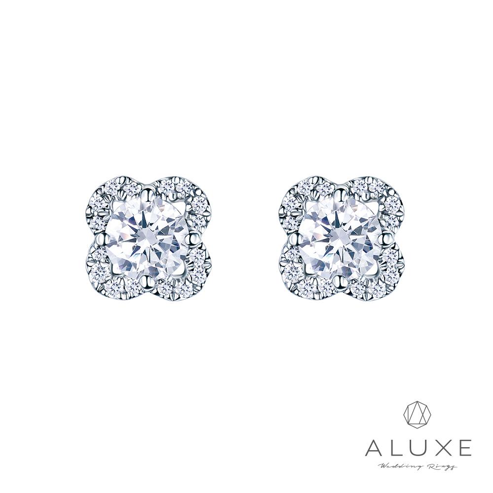 ALUXE 亞立詩 18K金 主鑽總重0.40克拉 鑽石耳環