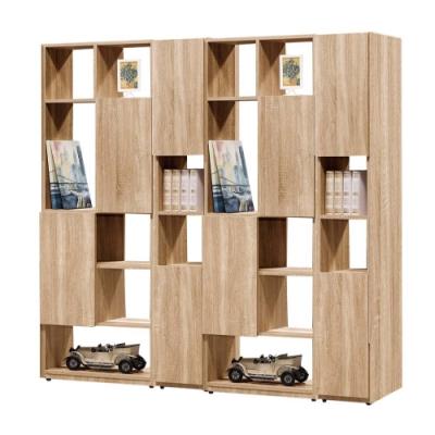文創集 威爾比6尺多功能雙面櫃/玄關櫃(二色可選)-180x30x180cm免組