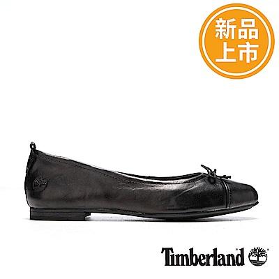 Timberland 女款黑色皮革Raw Lake休閒鞋