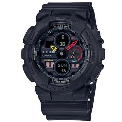 G-SHOCK CASIO 卡西歐 東京霓虹 計時碼錶 防水 手錶-黑色/51mm