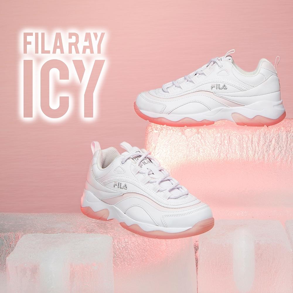 FILA RAY ICY 中性運動鞋-冰珀粉 4-C101V-112