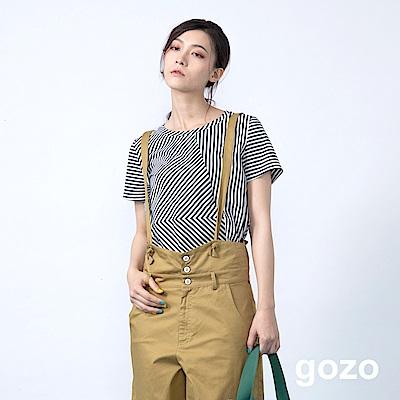 gozo 線條幾何拼接造型上衣(二色)