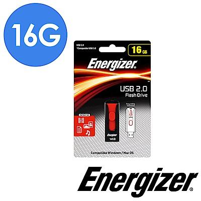 Energizer勁量 16GB Classic Slider 經典滑蓋隨身碟(黑紅色)