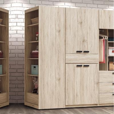 AS-溫格斯橡木色2尺開放置物櫃-60x57x195cm