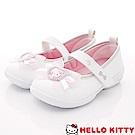 HelloKitty童鞋 凱蒂簡約娃娃鞋款 SE18743白(中小童段)