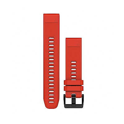 GARMIN QUICKFIT 22mm 火焰紅矽膠錶帶