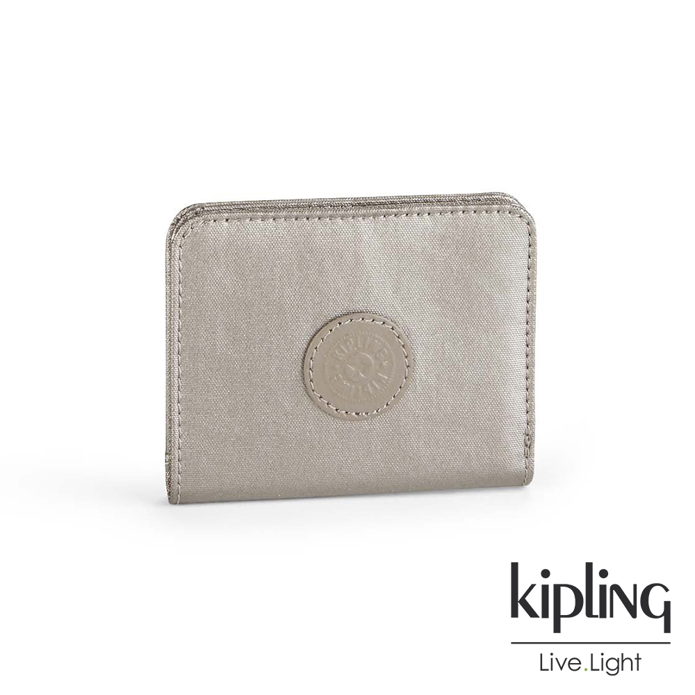 Kipling 零錢包 金屬銀河素面-小