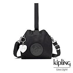 Kipling 亞洲限定款隕星黑素面手提側背包-IMMIN