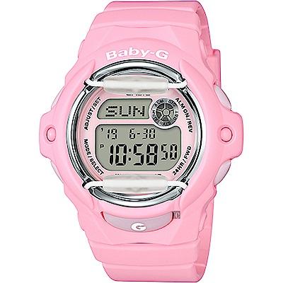 Baby-G 花朵系列時尚手錶-粉紅(BG-169R-4CDR)