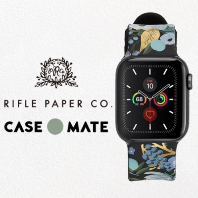 美國 Rifle Paper Co. x CM 限量聯名款 Apple Watch 42-44mm 錶帶 - 花園派對 - 藍