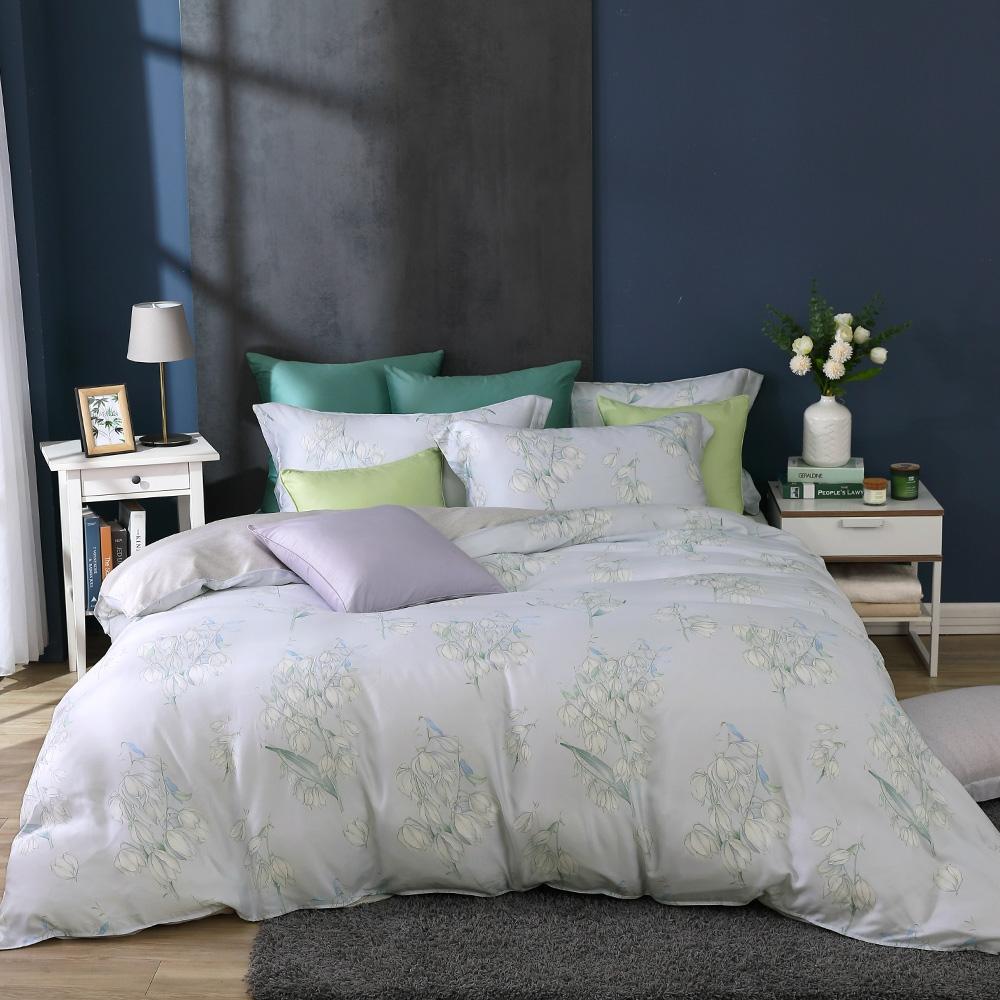 鴻宇 雙人床包兩用被套組 天絲300織 莎漫 台灣製