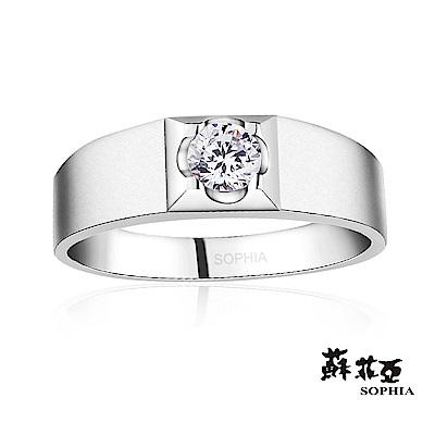 蘇菲亞SOPHIA-甜蜜花樣0.10克拉鑽石男戒